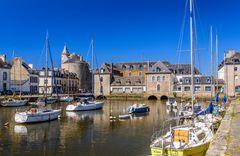 Flusshafen, Pont-l'Abbé, Bretagne, France
