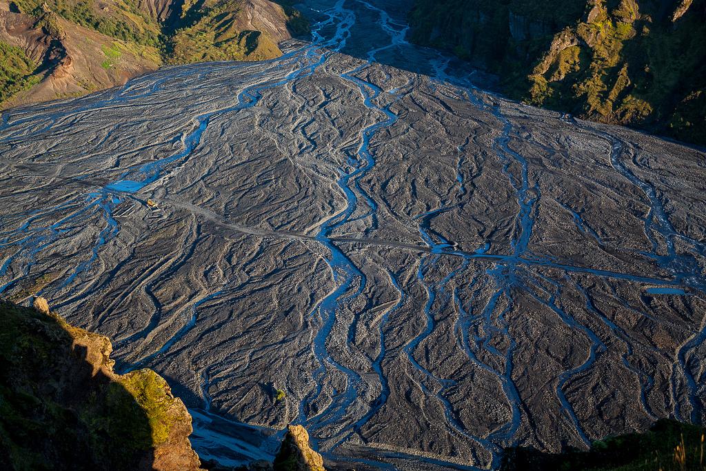 Flußlandschaft des Hvanná, Island