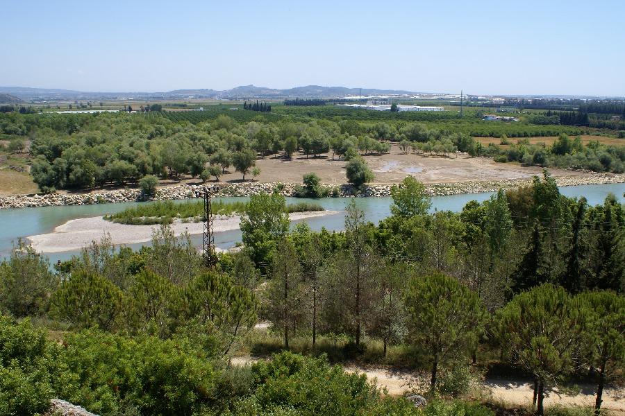 Flußlandschaft in der Nähe von Aspendos