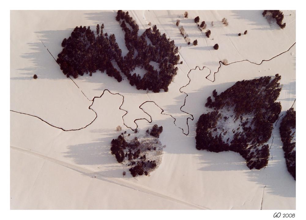Flusslauf wie ein Puzzle