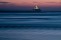 Flut am Mont Saint Michel