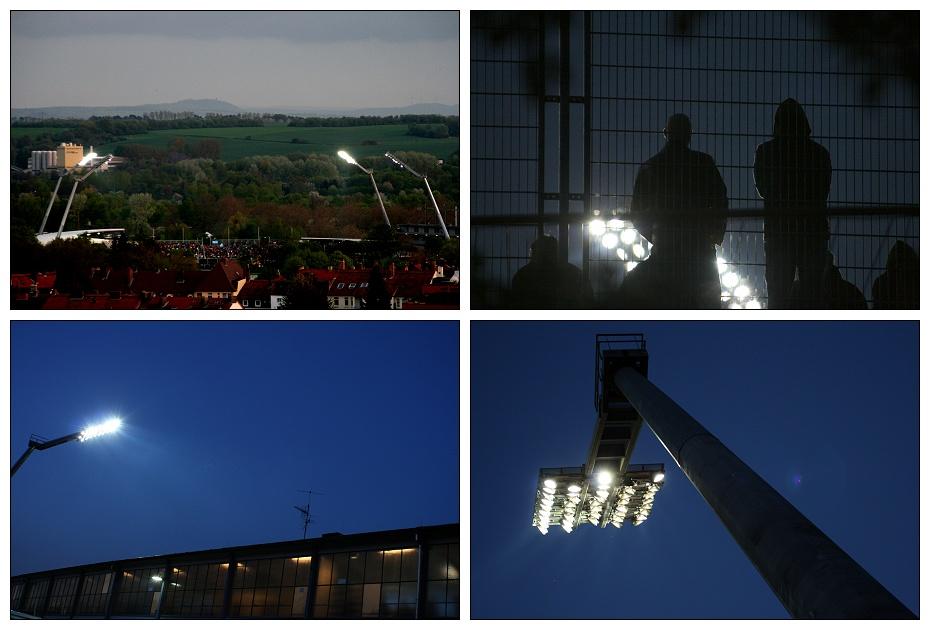 Flutlicht in Kassel