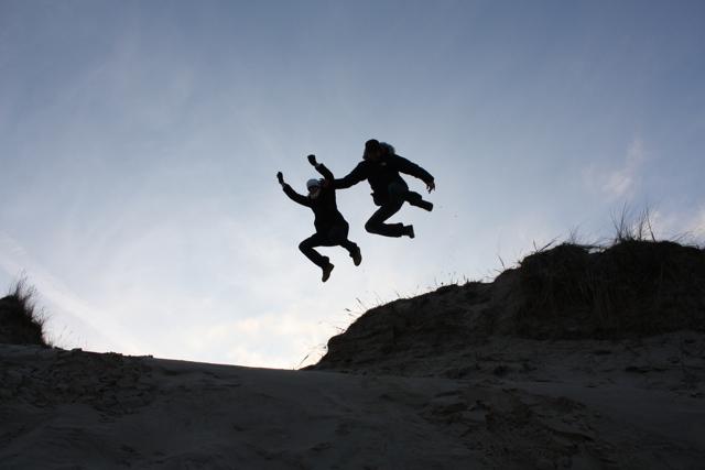 Flying in the dune