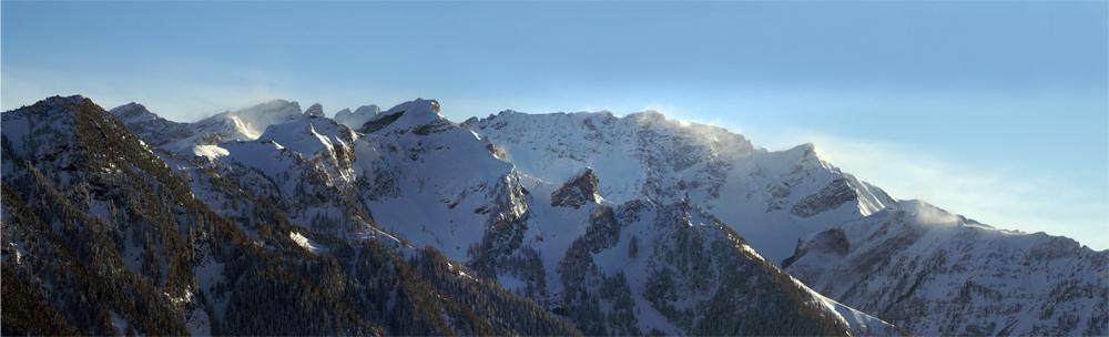 Föhnsturm über dem Falknis (Liechtensteiner Berge)
