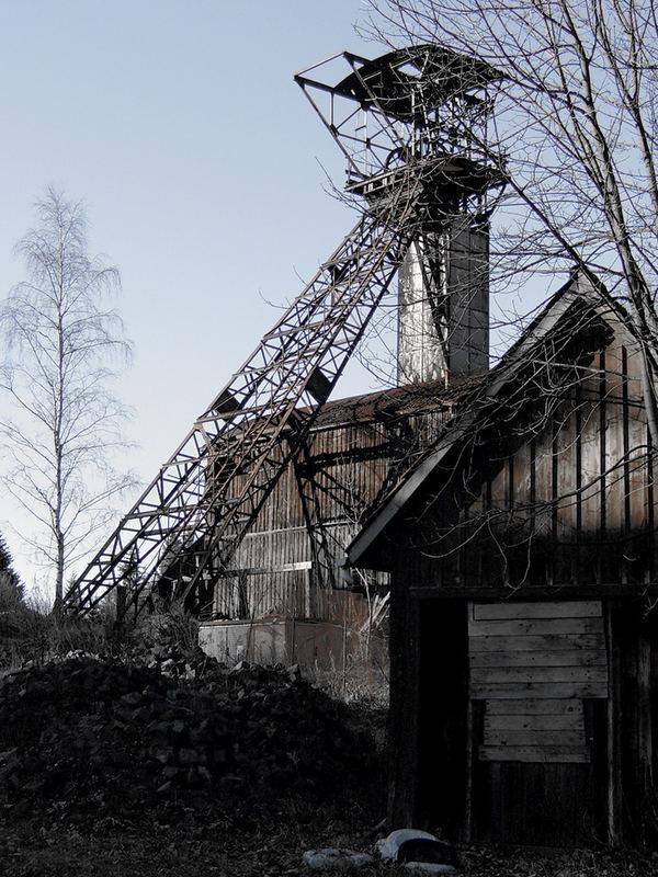 Fördergerüst, irgendwo zwischen Bad Grund und Clausthal-Zellerfeld, Harz
