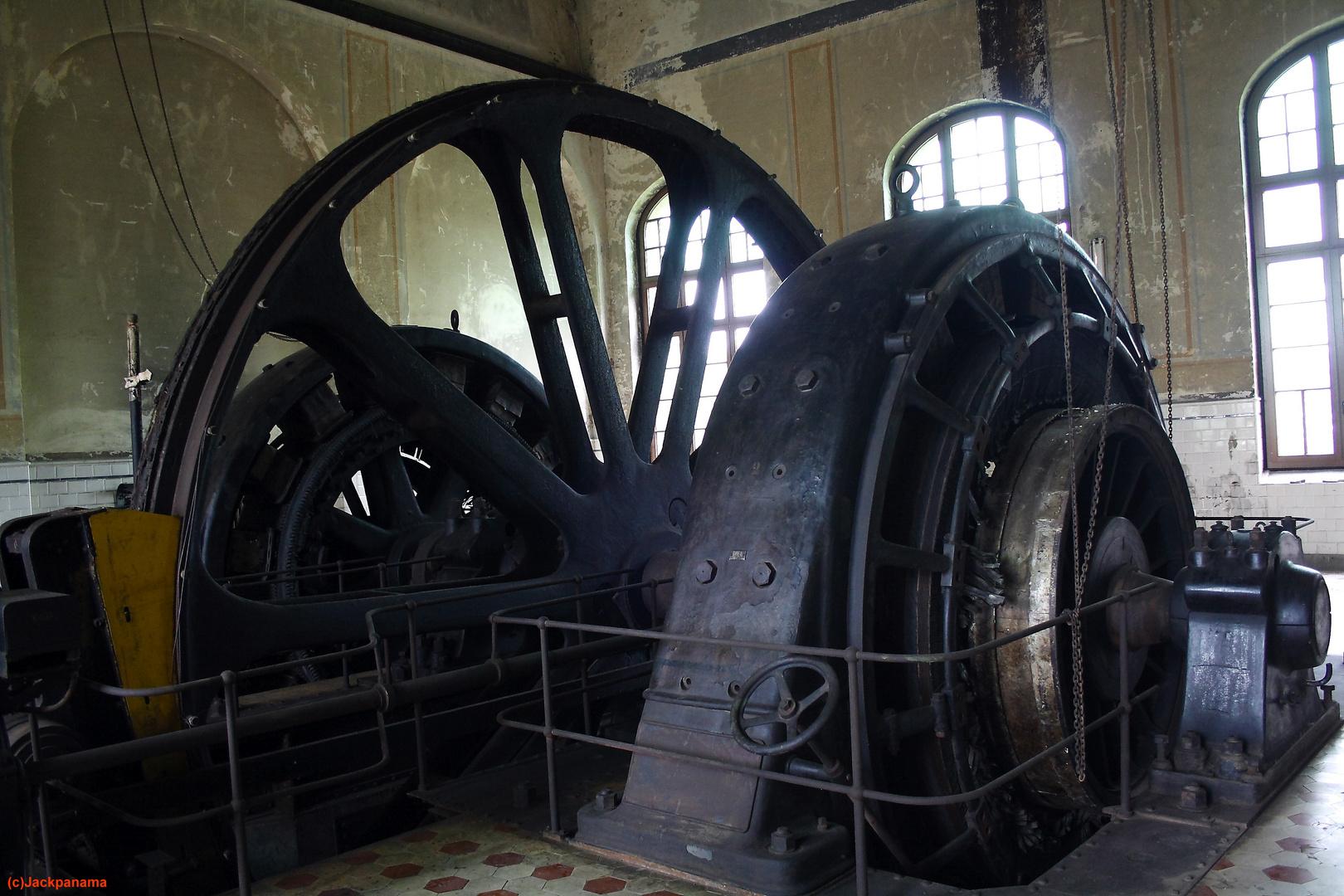 Fördermaschine, Baujahr 1908