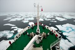 [ Fog & Sea Ice at Davis Strait ]