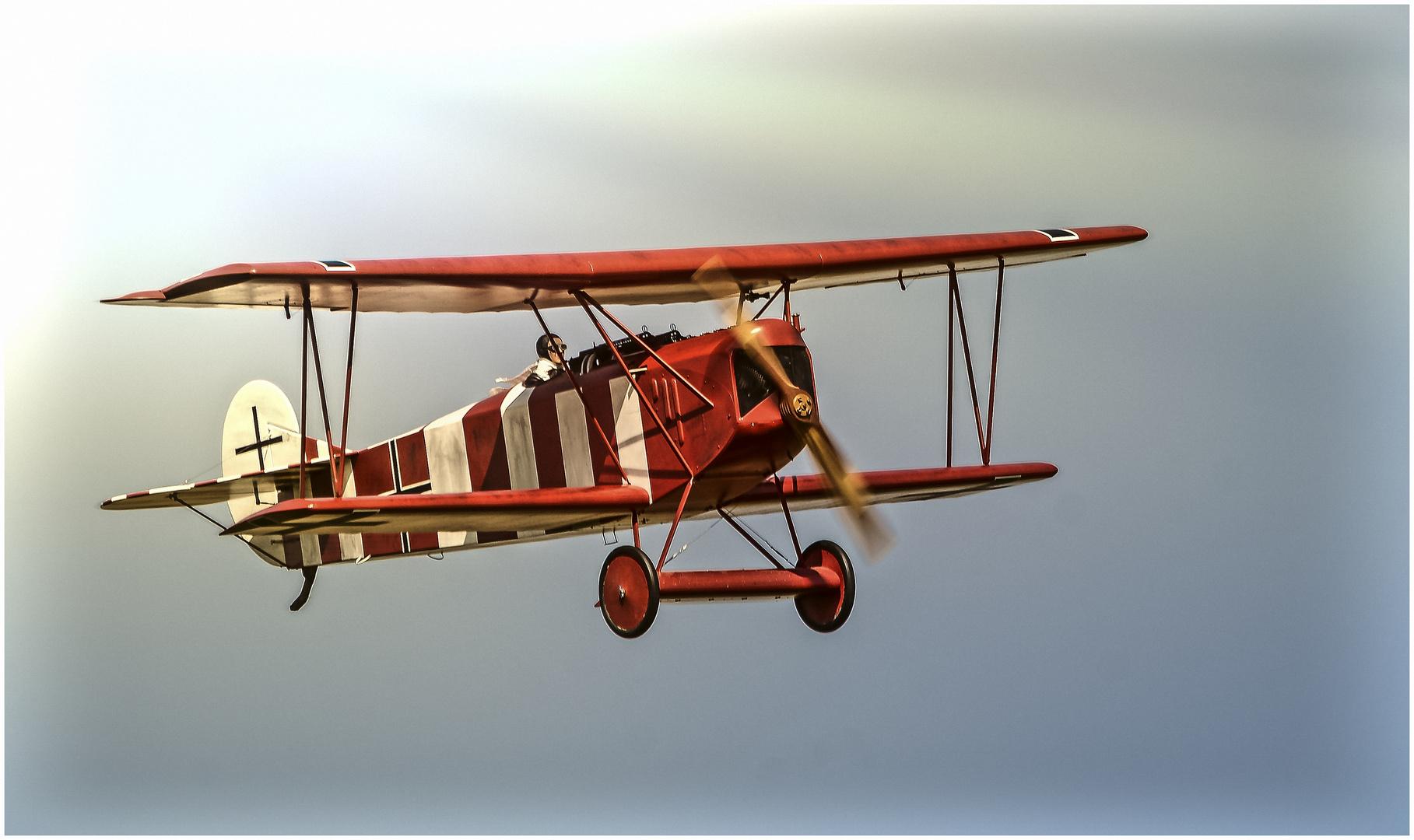 Fokker D-VII im Anflug !