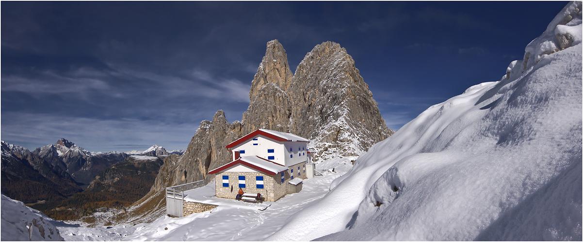 Fondo Savio Hütte und Torre Wundt
