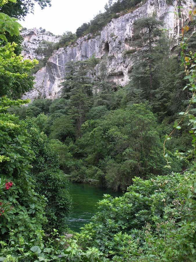 Fontaine de Vaucluse am Nachmittag