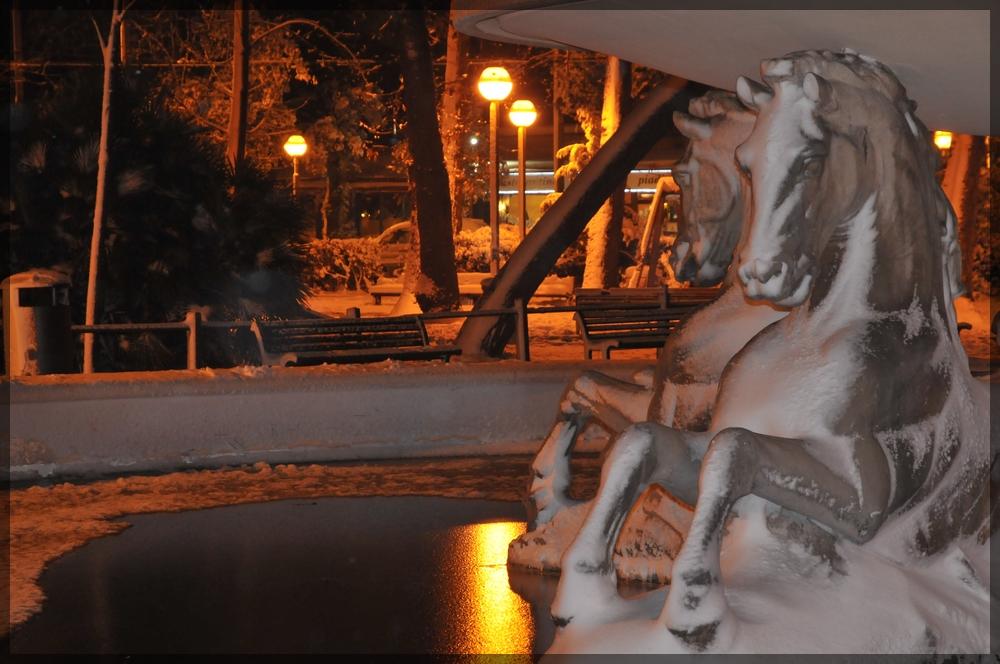 Fontana dei 4 cavalli...congelati