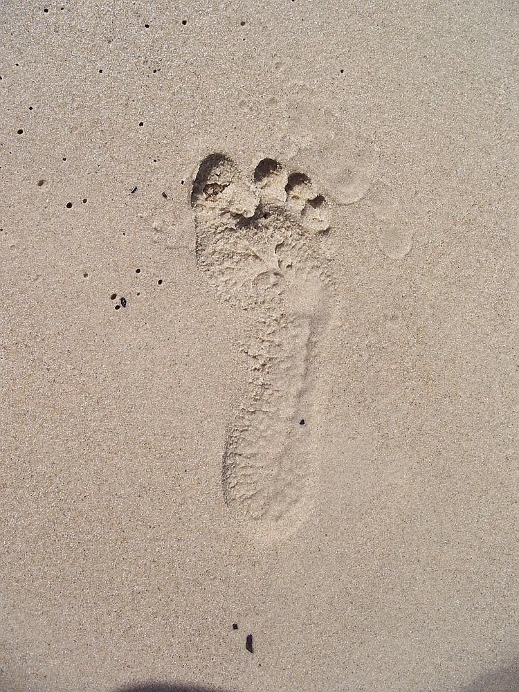 foot on sand - stopa na piasku