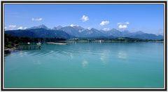 Forggensee mit Allgäuer Alpen