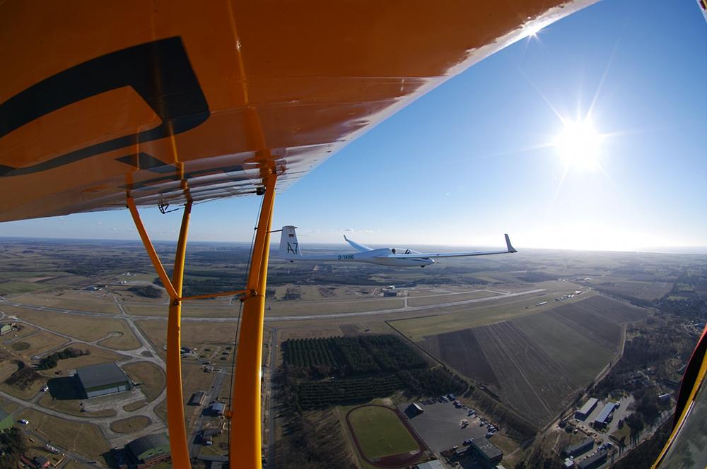 Formationsflug mit der DG505