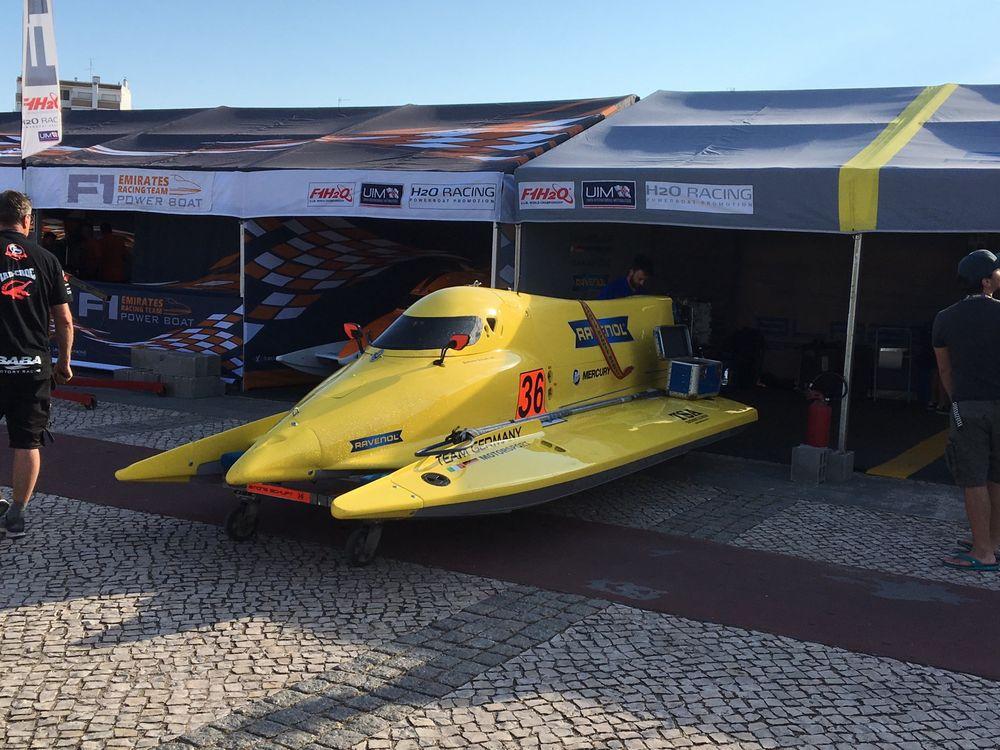 Formel 1 Motorboot in Portimao Portugal