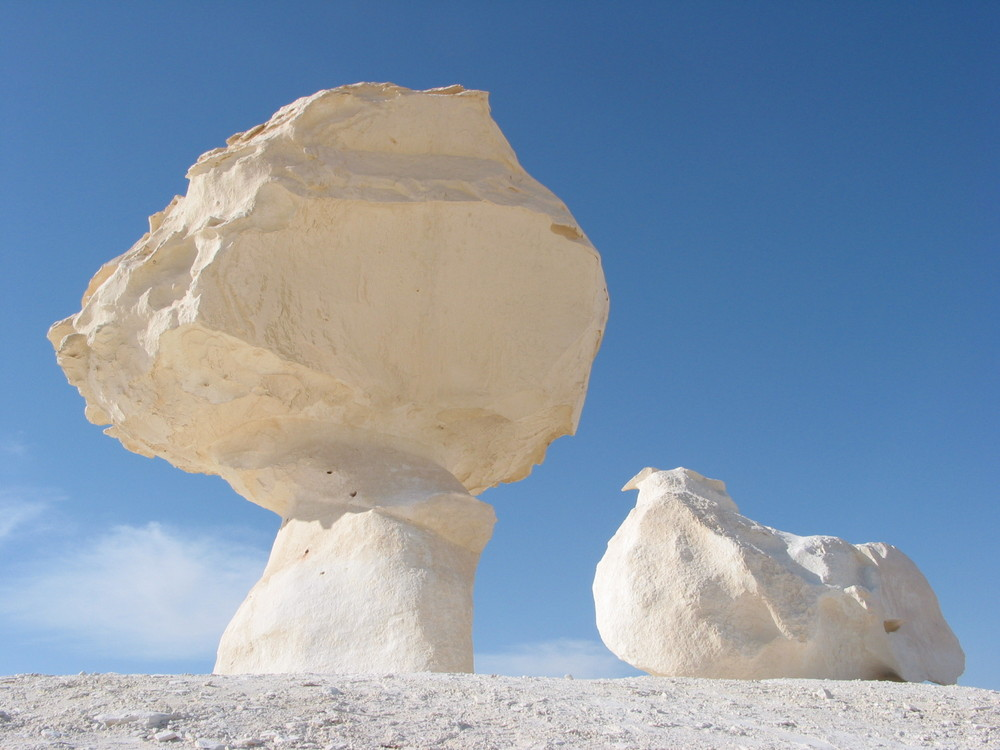 Formen von Wind und Sand geschliffen