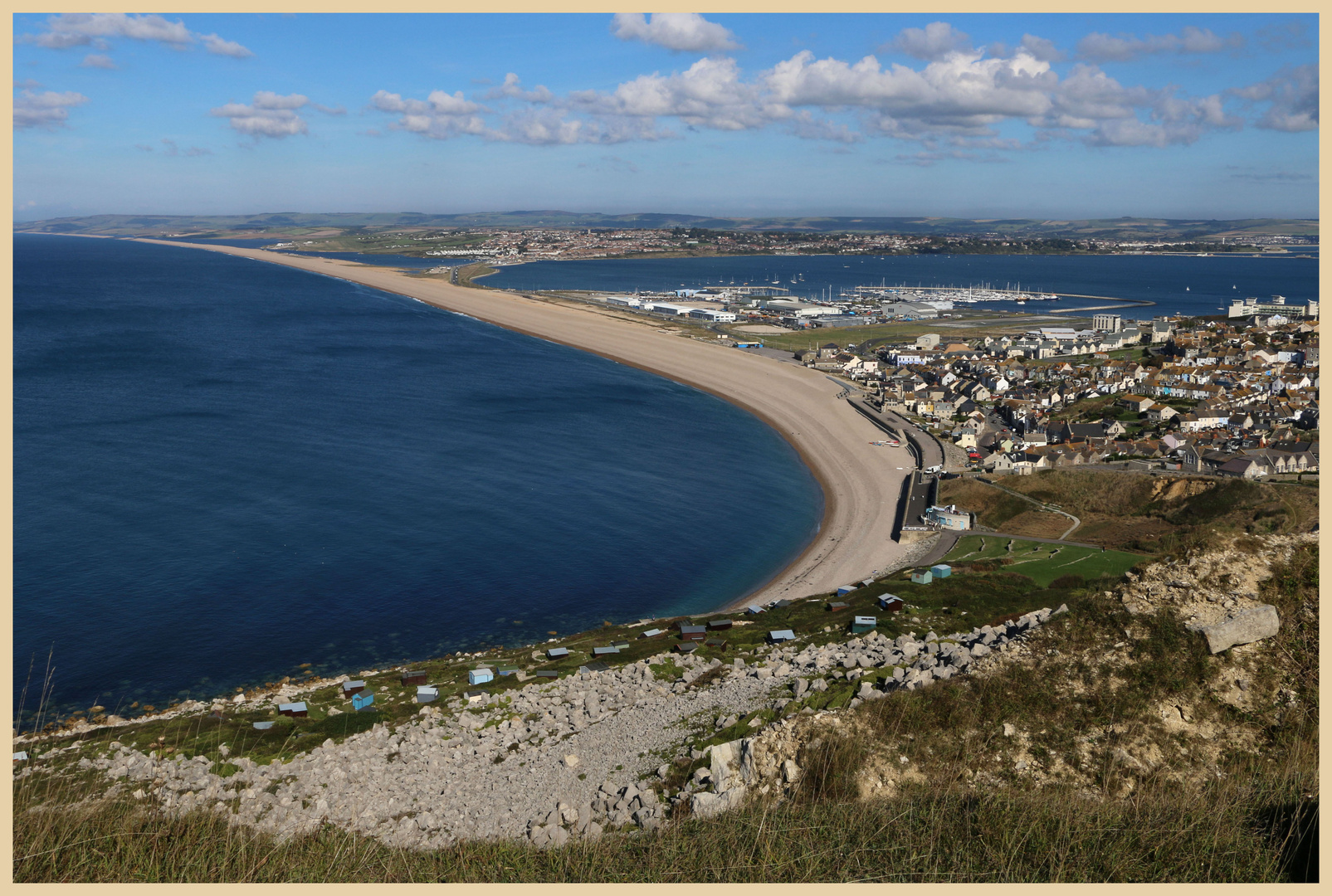Fortuneswell and chesil beach from West Cliff