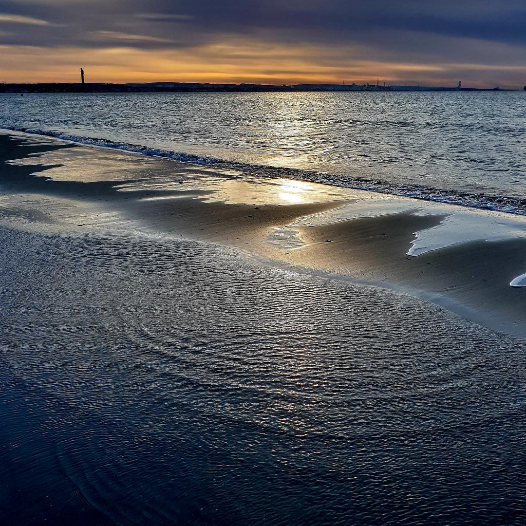 Fos sur mer au lever du soleil