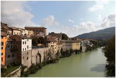 Fossombrone and the river Metauro