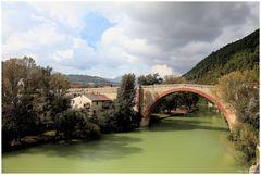 Fossombrone bridge over the river Metauro