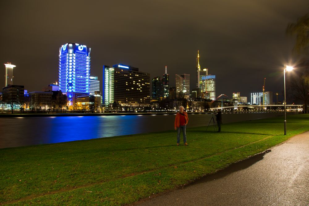 Foto Abend in Frankfurt