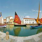 Foto panoramica ( Museo della Marineria ) Cesenatico Porto canale.