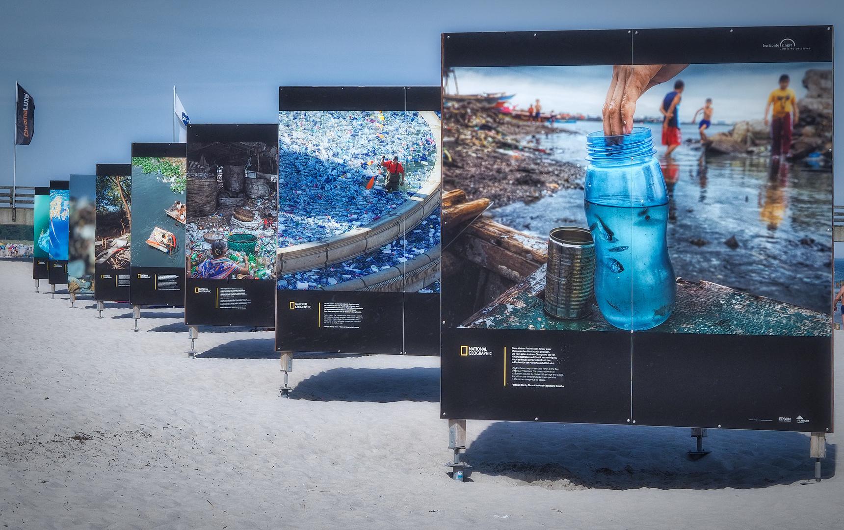 Fotoausstellung am Strand Zingst