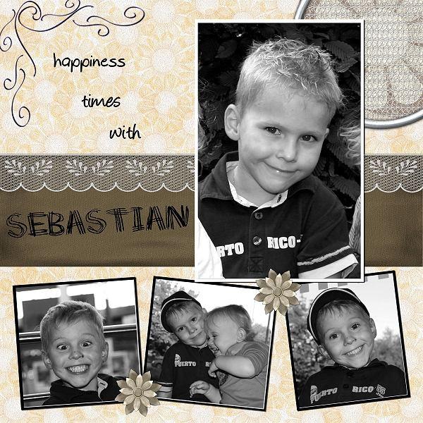 "Fotocollage ""funny Sebastian"""