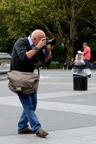 Fotograf im Washington Square Park
