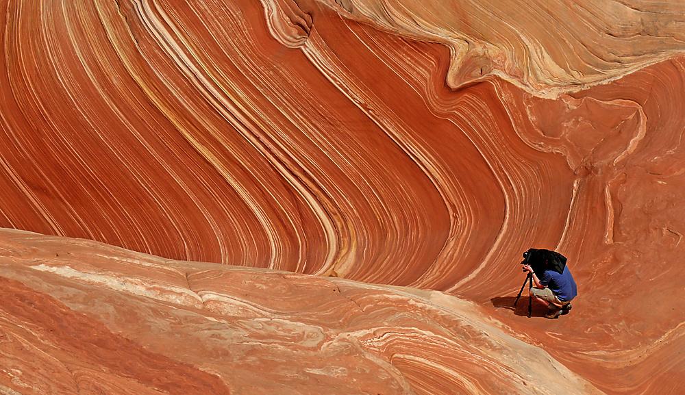 Fotograf in Wave