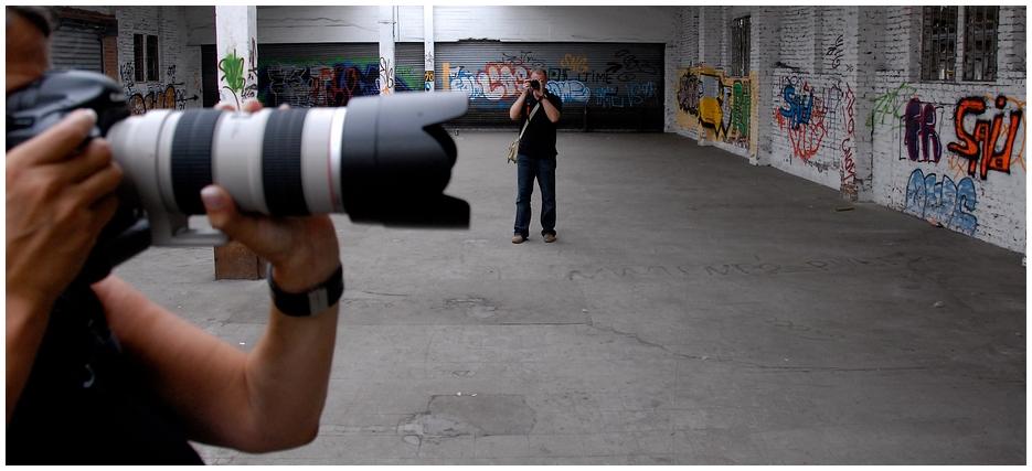 Fotografen beim Fotografieren fotografiert