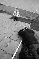 Fotografen, die Fotografen fotografieren, die Kinder fotografieren