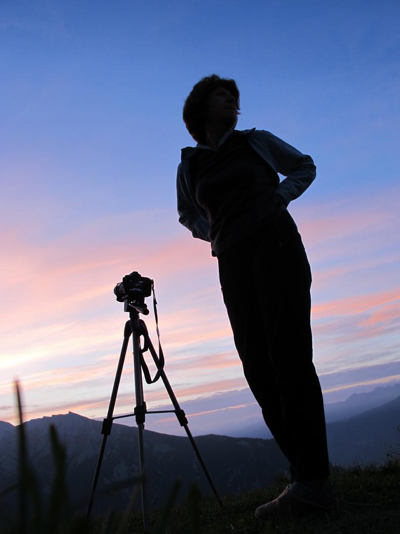 Fotografieren kurz vor Sonnenaufgang