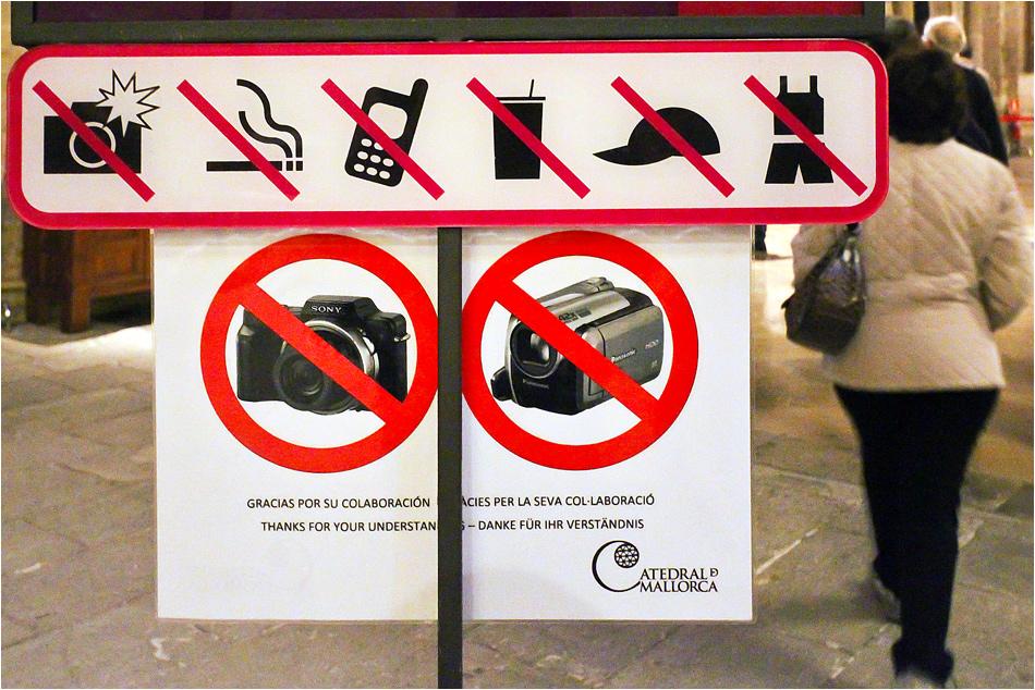 Fotografieren mit Sony verboten