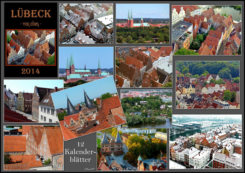 Fotokalender 2014 - Lübeck von oben