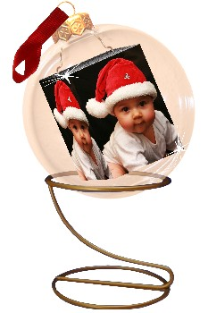 fotokugel mit babyfoto christbaumkugel mit foto foto weihnachtskugel foto bild kinder. Black Bedroom Furniture Sets. Home Design Ideas