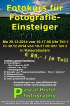 Fotokurse für Fotografie-Einsteiger - Kaiserslautern