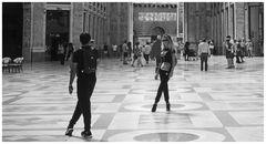 Fotomodella in Galleria