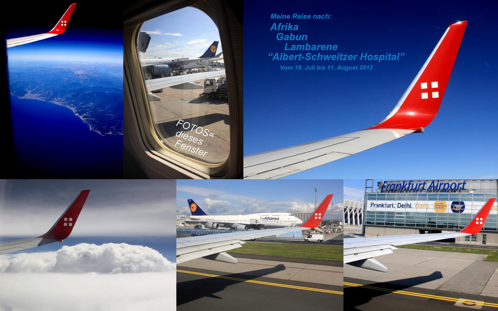 FOTOS vom Flugzeugfenster