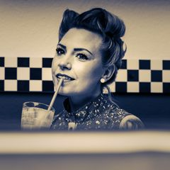 Fotoshooting im American Diner in Rathenow