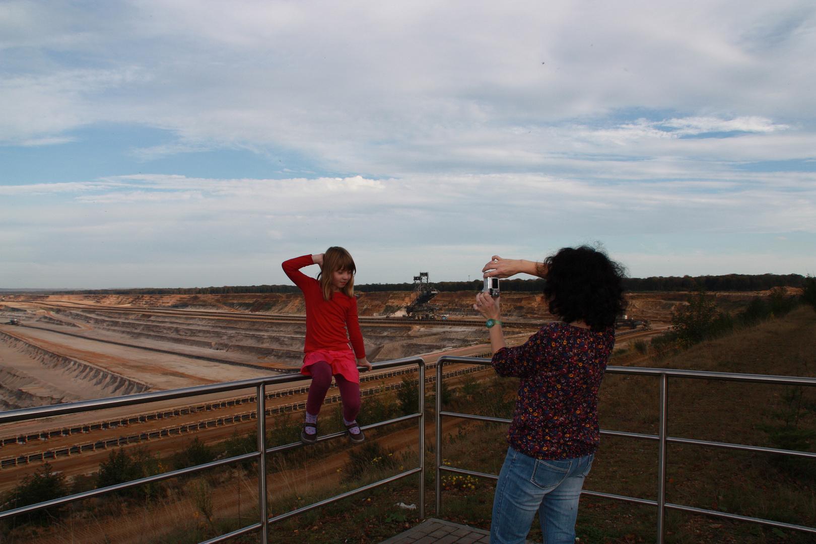 Fotoshooting im Tagebau