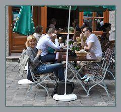 Fototour München, verdiente Pause