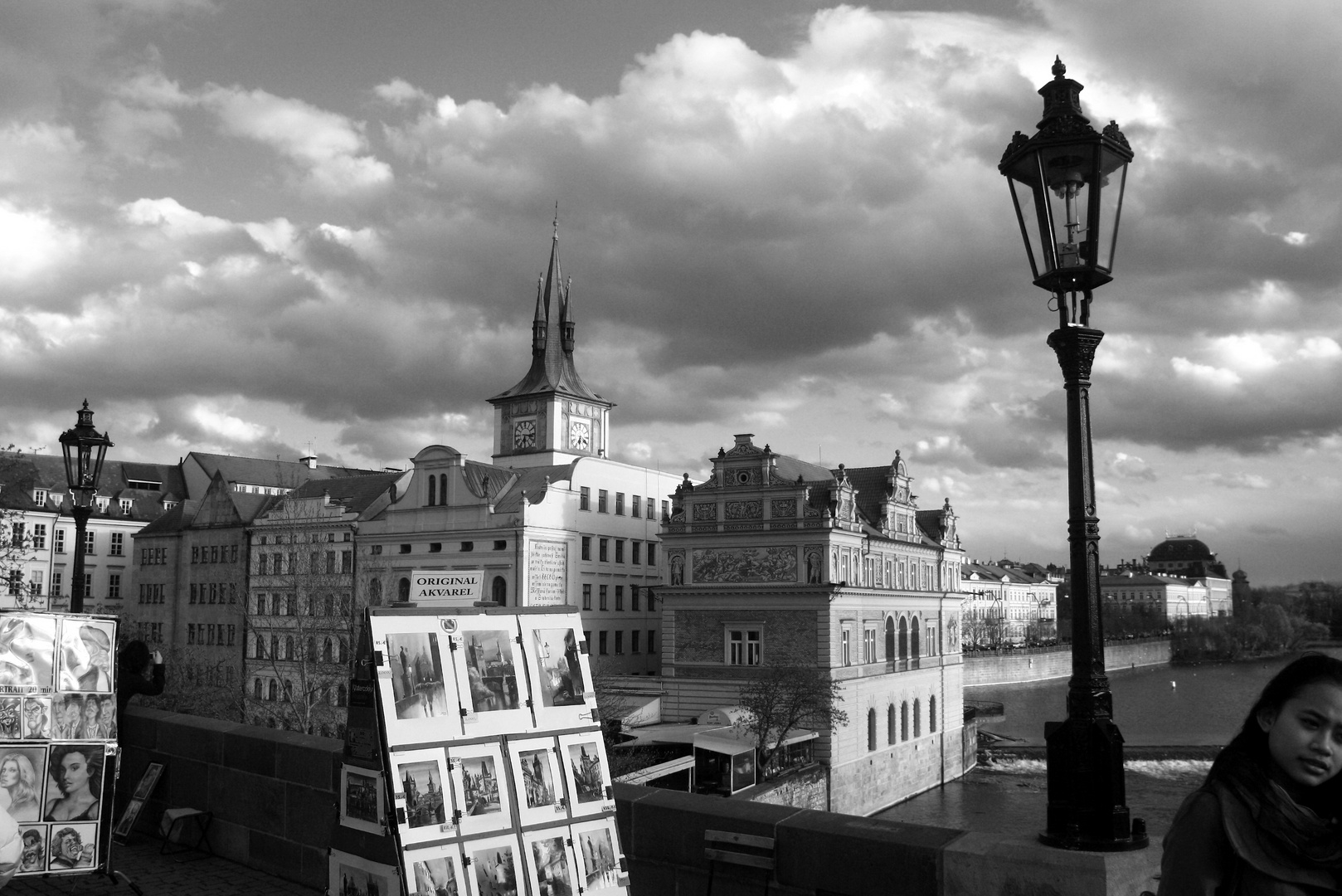 """""""Fotowolken""""- blick von der Karlsbrücke"""