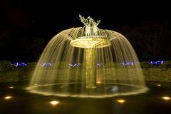 fountain in night