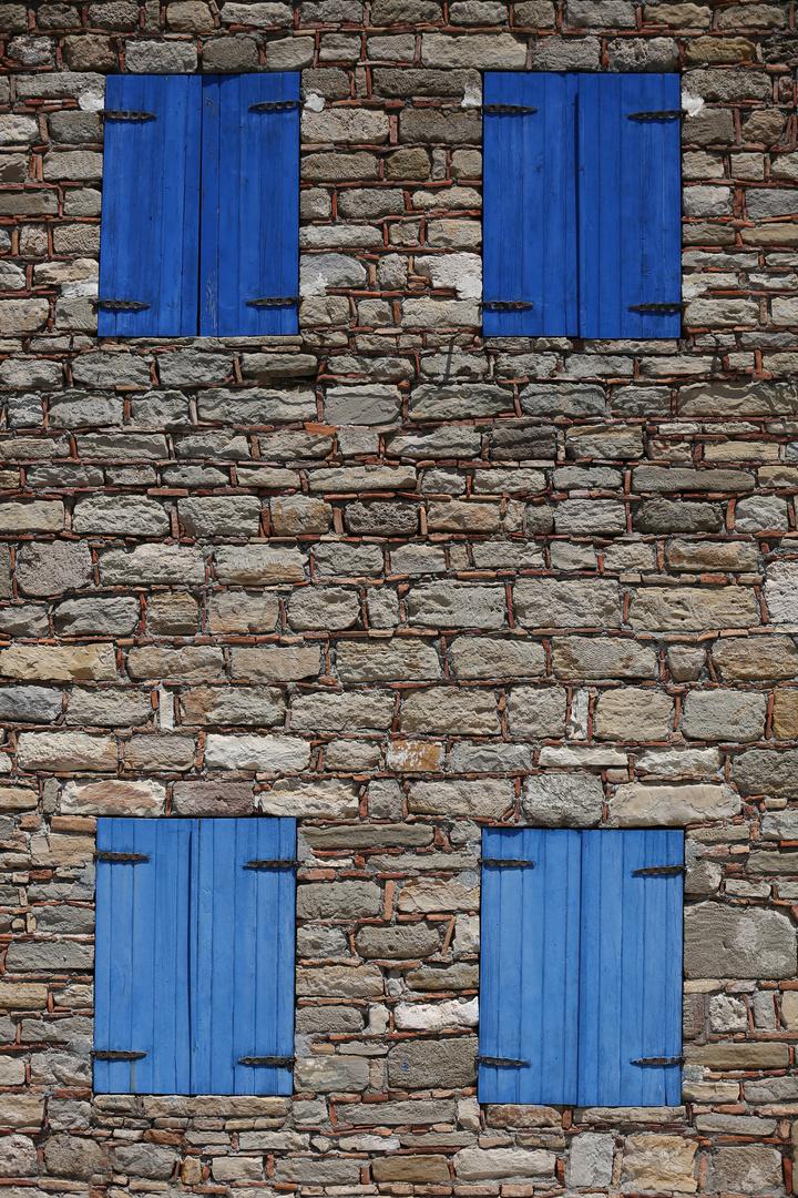 Four Blue Windows