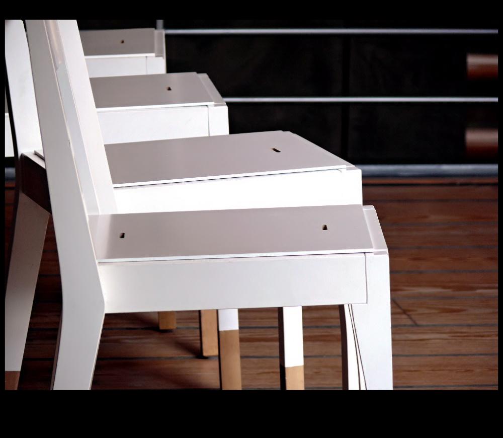 Four white chair