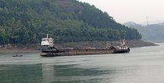 Frachtschiff auf dem Jangtse (Jangtsekiang)  -1-