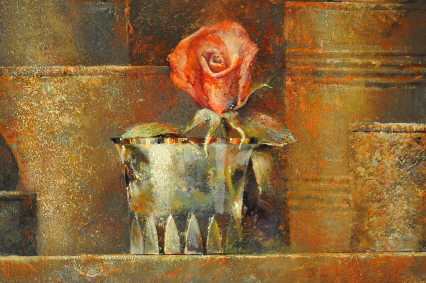 Fracmento de cuadro del pintor Fernando Pagador Otero