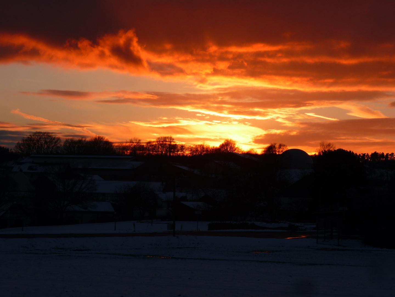 Fränkischer Sonnenuntergang