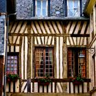 fragment of an old house in Pont-Audemer